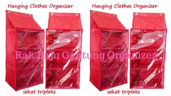rak baju gantung hanging clothes organizer